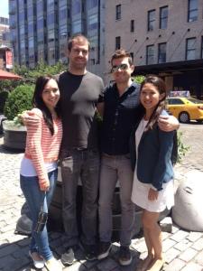 Christine, Taylor, Daniel and Alanna after brunch at Pastis
