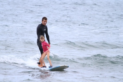 Evie surfs!!!