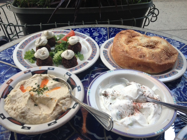 Beyoglu's bread is to die for, as is the cacik, hummus and falafel.