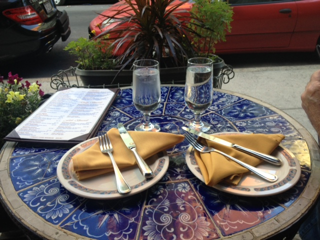 We were lucky to snag an outdoor table at Beyoglu.