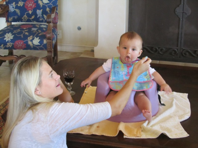And Miss Caleigh of the chunky thighs has learned to enjoy her new menu of solid food.