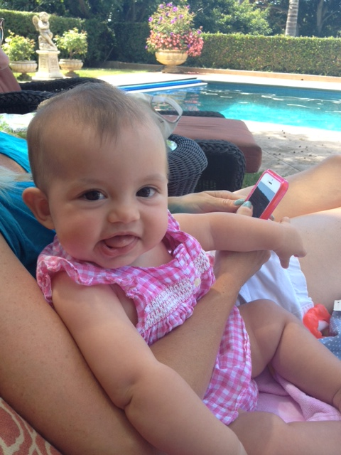 Miss Caleigh at the pool