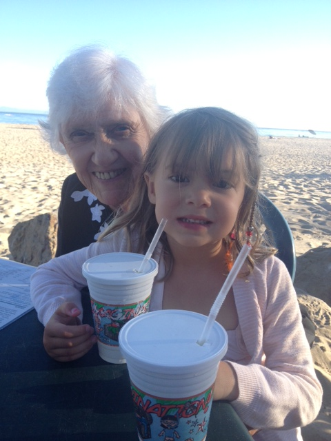 Great-Granny and Viv have a moment