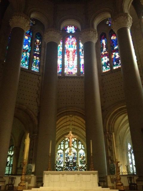 Interior detail at St. John the Divine