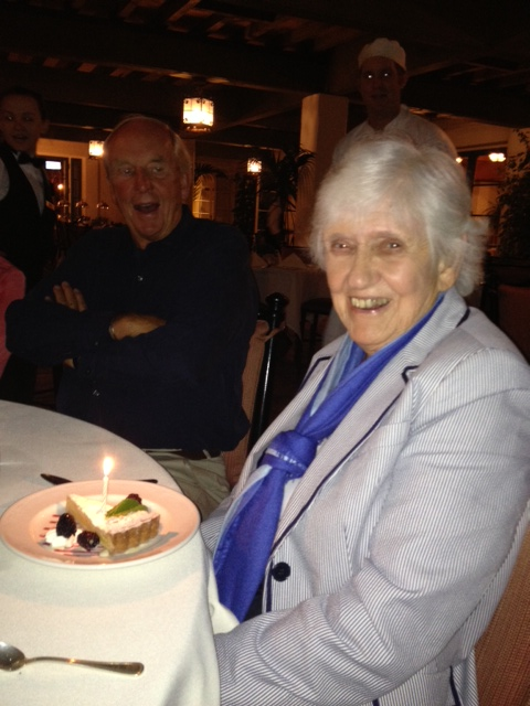 She finally got a candle! Onward to 92!
