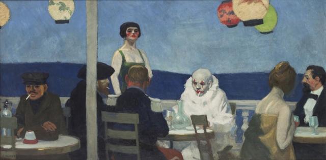 Edward Hopper's Soir Bleu at The Whitney (image from whitney.org)