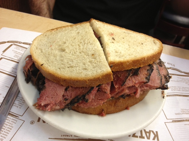 And, of course, the pastrami sandwich.