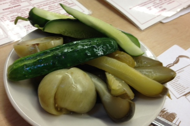 Come for the pickles...