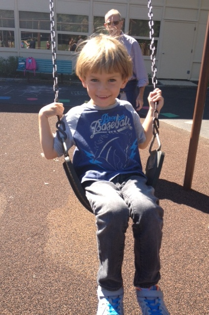 Playground time with James after school