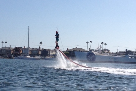 First time I've seen one of these: it's called a Fly Board.