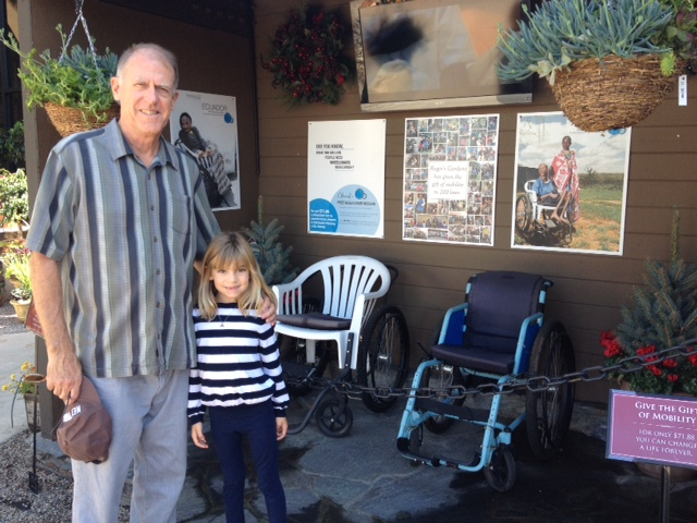 The CE was especially pleased to see that Roger's Gardens supports his favorite charity: Free Wheelchair Mission