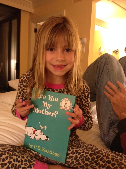 And then Evie read to Grandpa