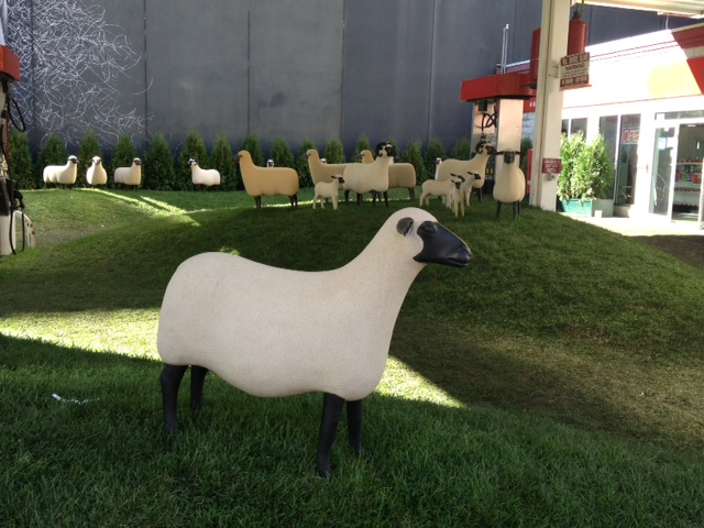 Shear art: the #gettystation exhibit will baaa on site until October 20.