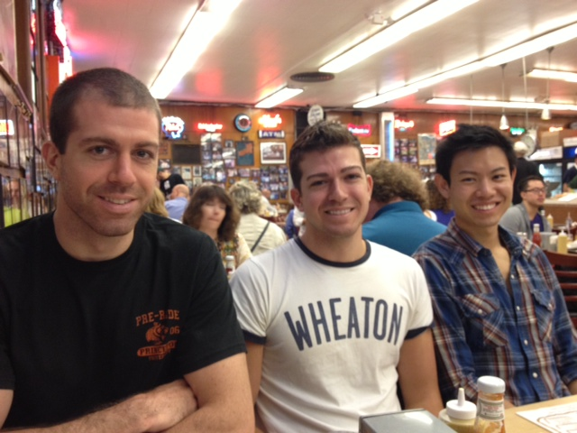 Taylor, Daniel and Peter at Katz's Deli