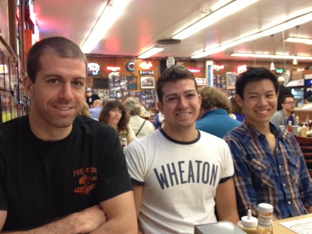 Taylor, Daniel and Peter at Katz's Deli
