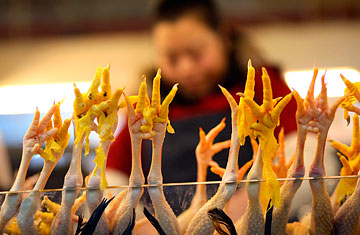 Chicken feet in a Shanghai market (image from time.com)
