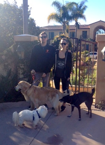 Daniel and Victoria took Soho, Chloe and Vernon for a Christmas walk to More Mesa.