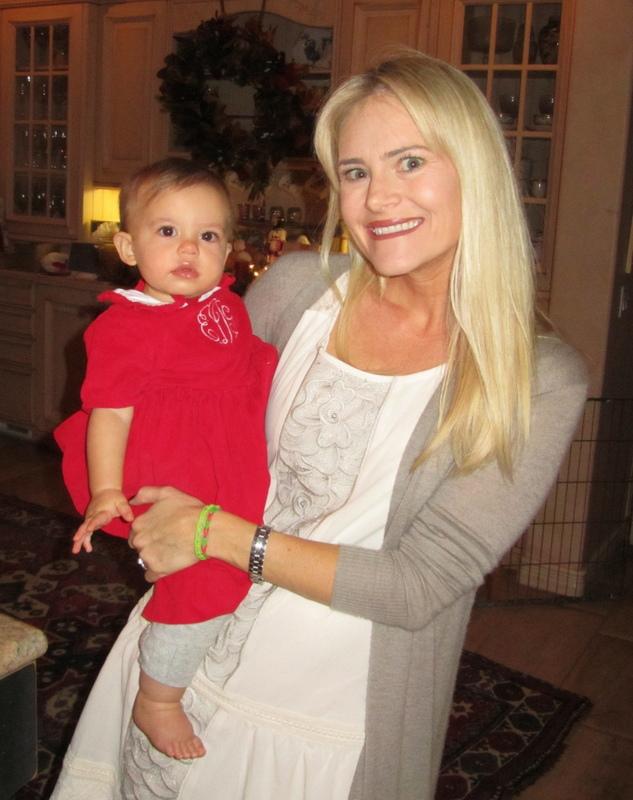 Tina and Caleigh on Christmas Eve