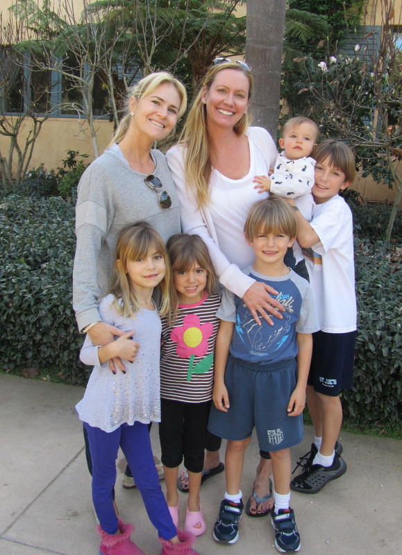 Tina, Angie and the cousins.