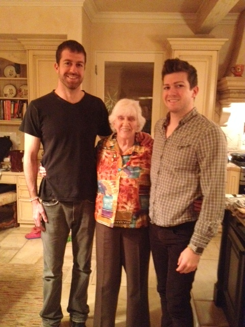 The boys and their granny.