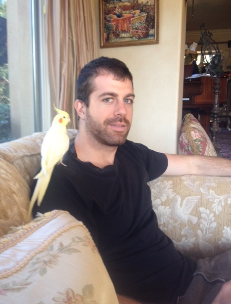 Birdie was happy to see Taylor and his beard.