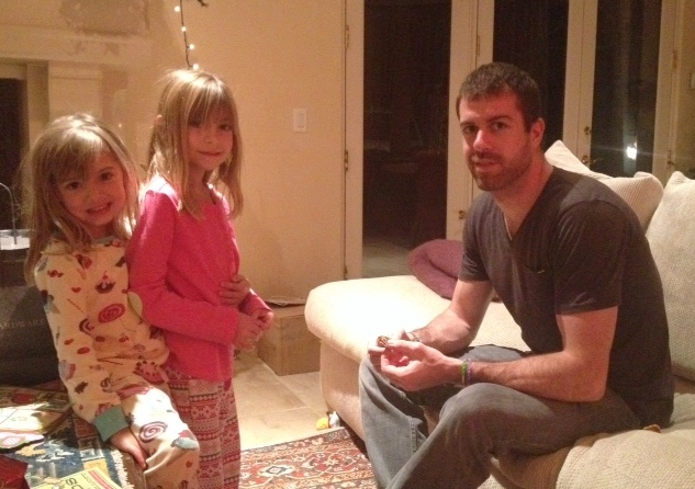 Evie and Viv and their Uncle Taylor