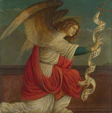 Gaudenzio Ferrari's rendering of The Annunciation: The Angel Gabriel (image from national gallery.org.uk)