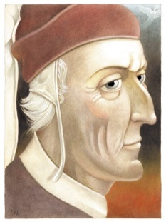 The divine Dante Alighieri (image from The New Yorker)