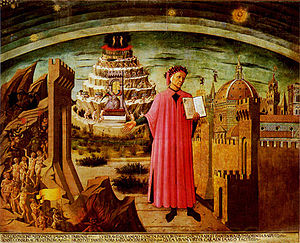 An illustration of Dante at the gates of Hell. (wikipedia image)