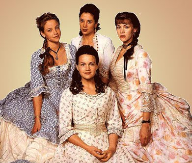 "Mira Sorvino and Carla Gugino starred in a 1995 mini-series of ""The Buccaneers"" (image from janeaustenfilmclub.blogspot.com)"