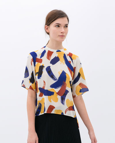 For a fun, bold print, you can shop at H& M or Zara and pay $30-$50 for a top that will last a season or two.