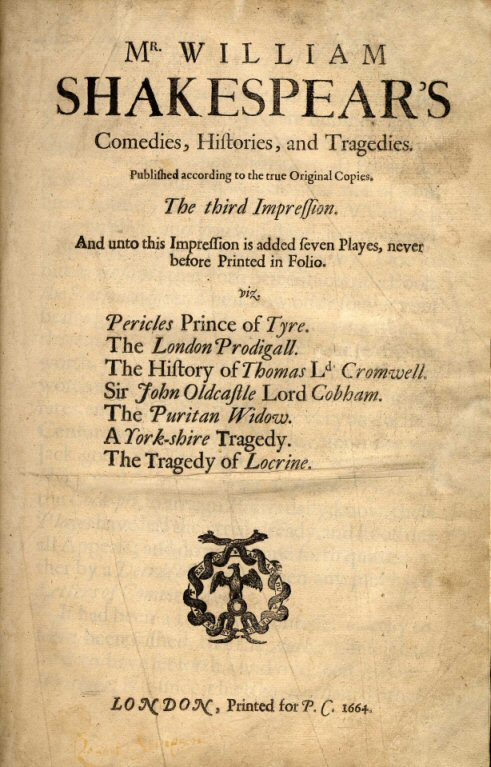 A Shakespeare folio from 1663 (image from private library.typepad.com)