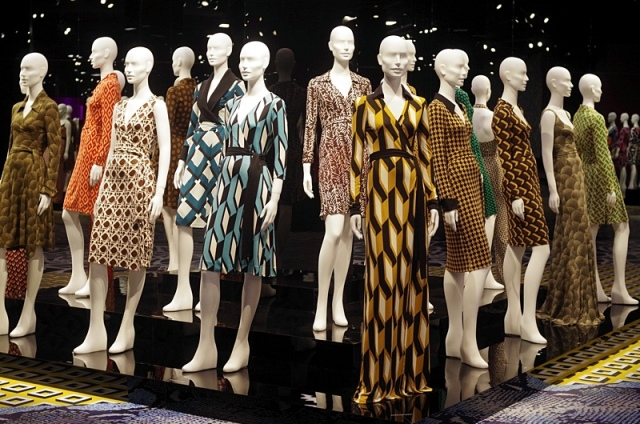 Various versions of Von Furstenberg's famous wrap dress (image from Iaimyours.com)
