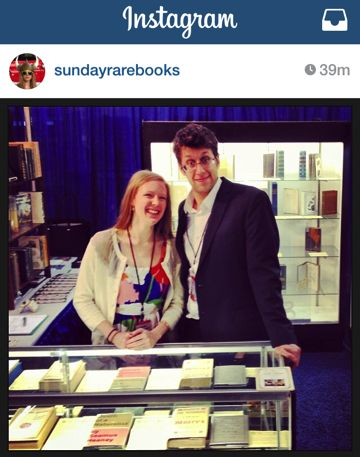 Sunday and Josh posted this from the Pasadena Book Fair yesterday. You can follow them on Instagram @sundayrarebooks.