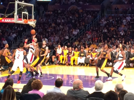 The Lakers lost, but it was a good game! So much fun!