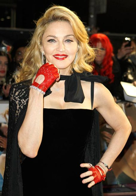 Madonna in gloves (image from the sun.co.uk)