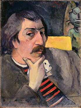 Paul Gauguin self-portrait c. 1893 (image from MOMA)