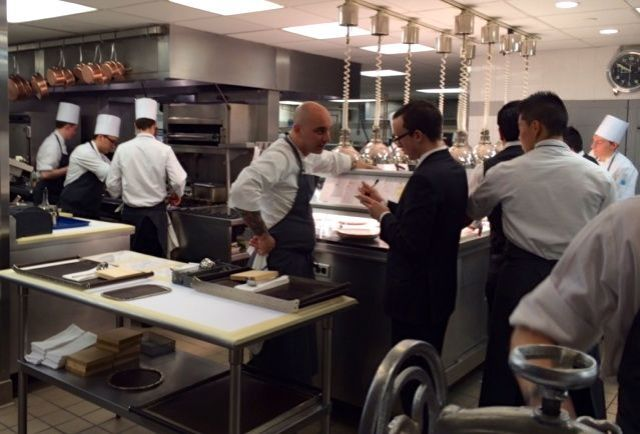 """Backstage"" at Eleven Madison Park."