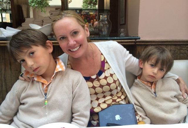 Angie and her boys.