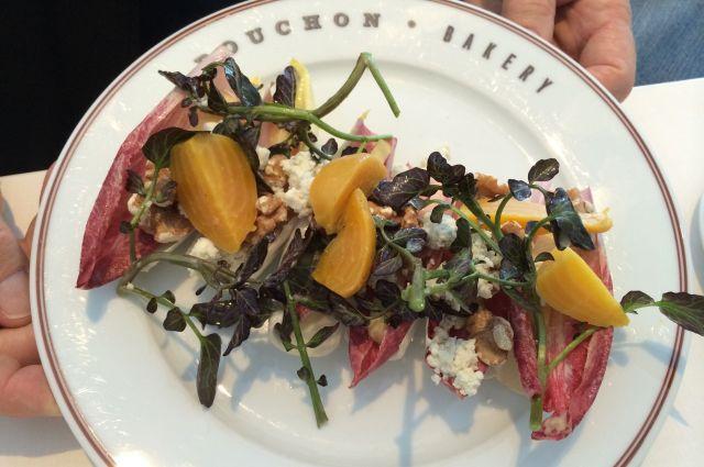 A healthy salad at Bouchon Bakery.