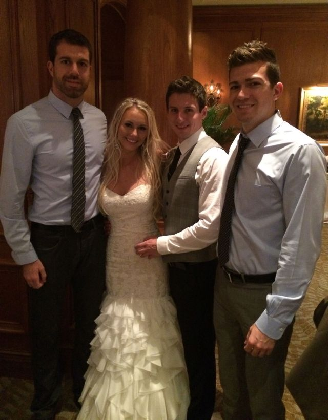 Our boys and the newlyweds