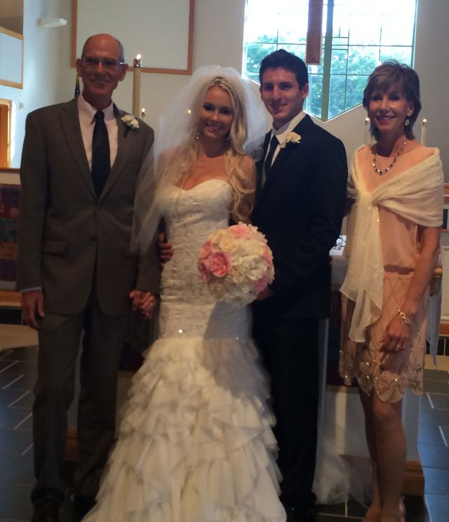 Mark, Jean and the happy newlyweds