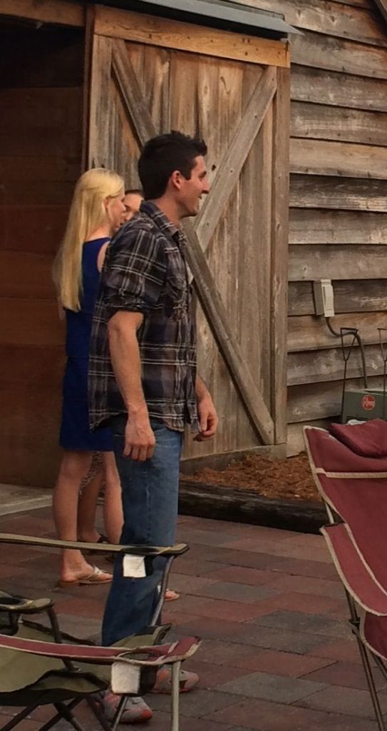 I didn't get a shot of Laura and fiancé Colton together, but here's a glimpse of him. Hopefully I will have pix of them to share from the wedding.