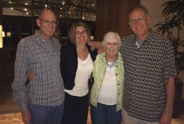 It's a reunion: Mark, Gail, Phyllis and the CE