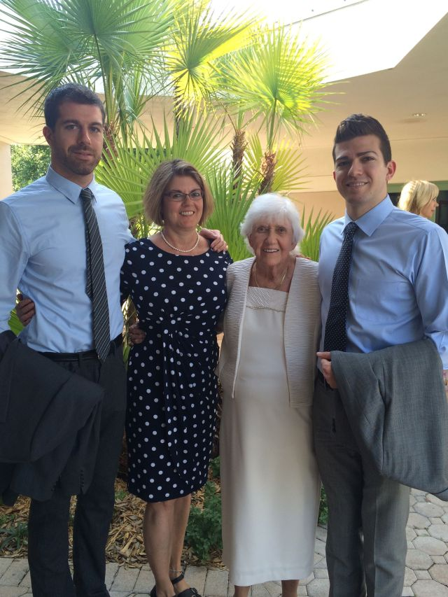 Taylor and Daniel with their granny and Aunt Gail