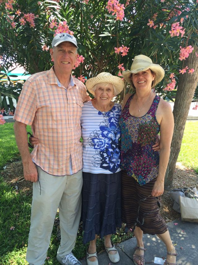 Behatted: The CE, Phyllis and Gail at St. Armand's Circle in Sarasota