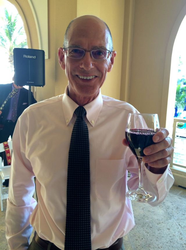 At the reception: Mark drinks a glass of wine once a decade and today was the day!