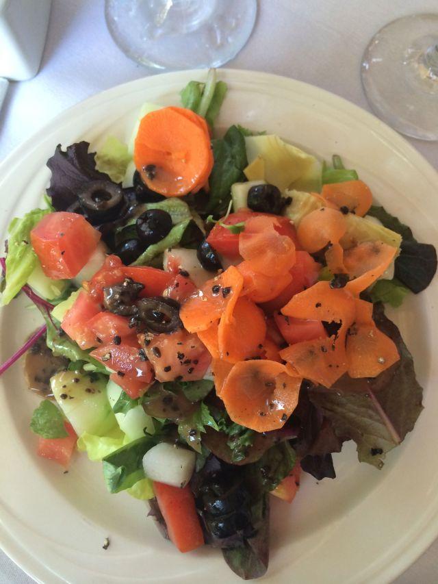 Cafe L'Europe serves a lovely signature salad