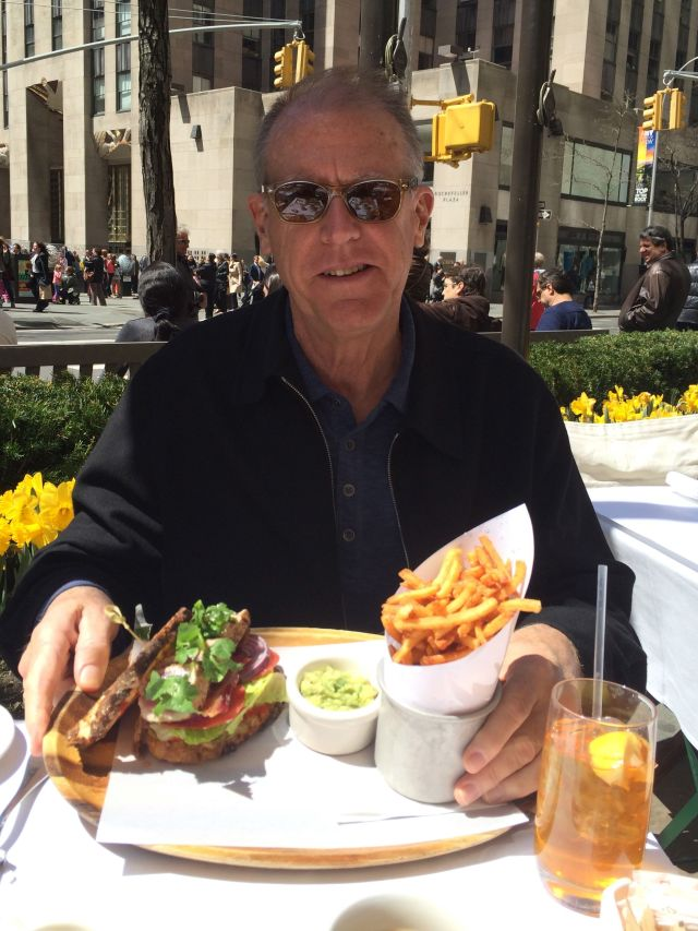 …and a not-so-healthy lunch at Brasserie Ruhlmann in Rockefeller Plaza