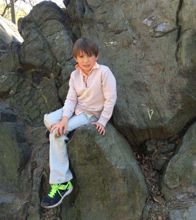 Thomas in Central Park after Easter brunch.